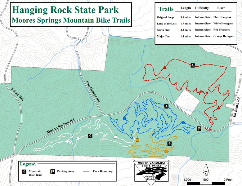 Hanging Rock State Park (Moores Springs Mountain Bike Trails)