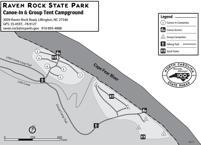 Raven Rock State Park (Canoe-In & Group Campgrounds)