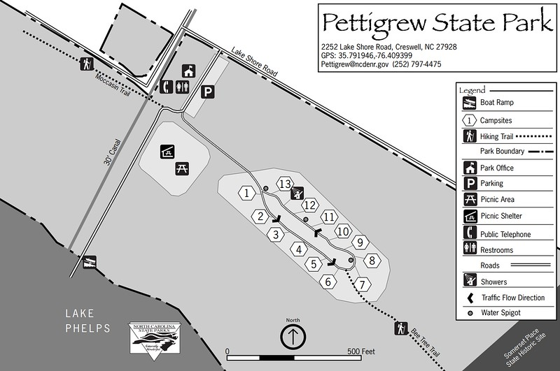 Pettigrew State Park (Campground Map)