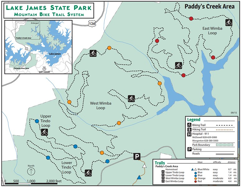 Lake James State Park (Bike Trails)