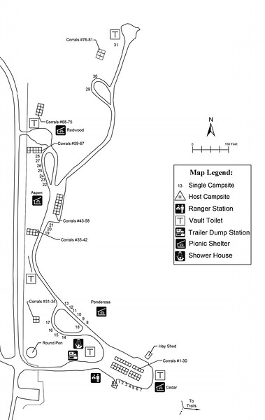 Little Missouri State Park (Campground Map)