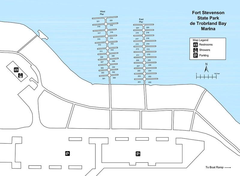 Fort Stevenson State Park (Marina Map)