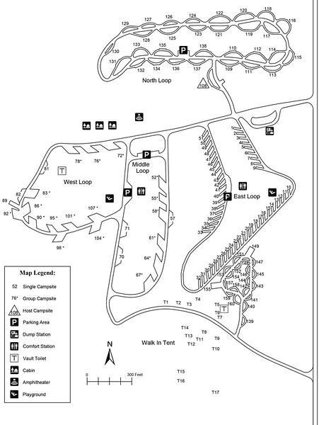 Fort Stevenson State Park (Campground Map)