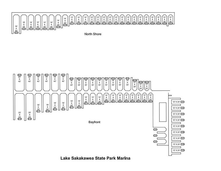 Lake Sakakawea State Park (Marina Map - Slip Detail)