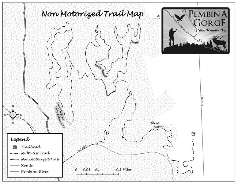 Pembina Gorge State Recreation Area (Non-Motorized Trail Map)