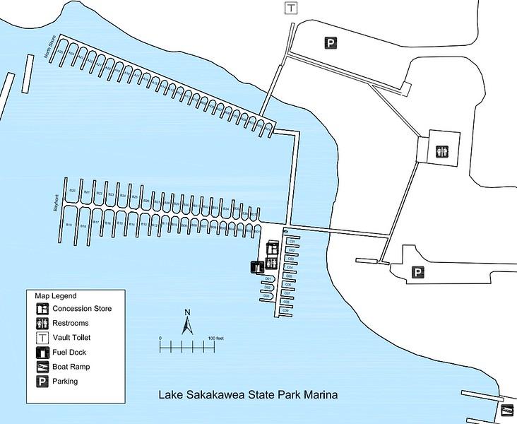 Lake Sakakawea State Park (Marina Map)