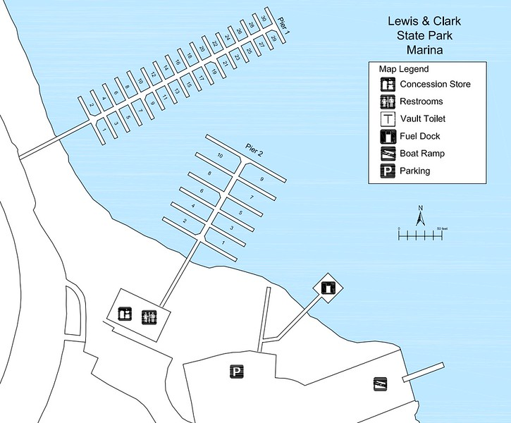 Lewis and Clark State Park (Marina Map)
