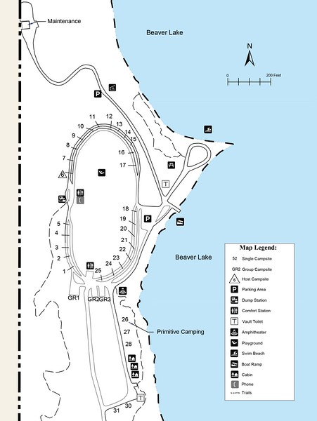 Beaver Lake State Park (Campground Map)