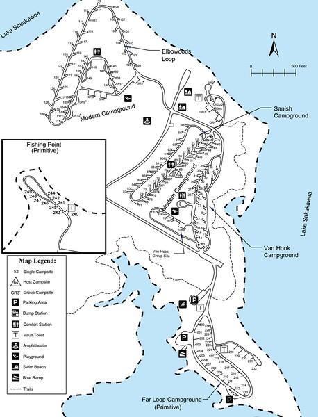 Lake Sakakawea State Park (Campground Maps)