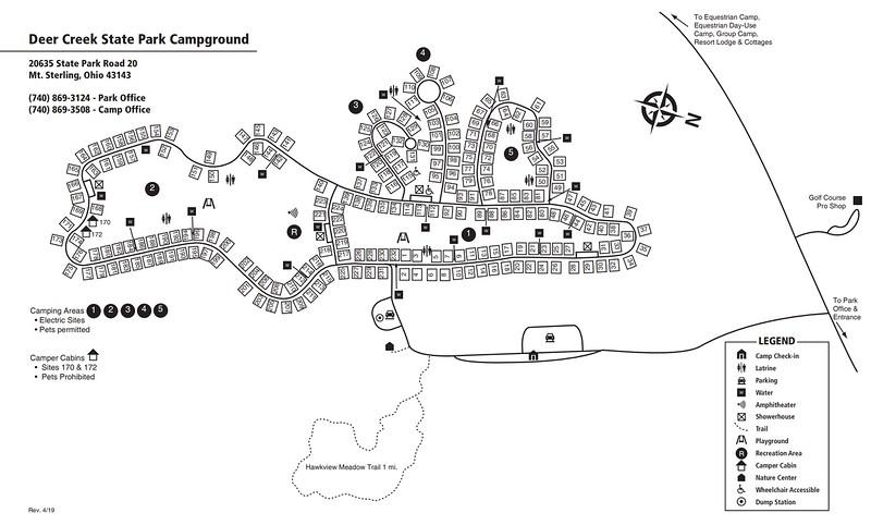 Deer Creek State Park (Campground Map)
