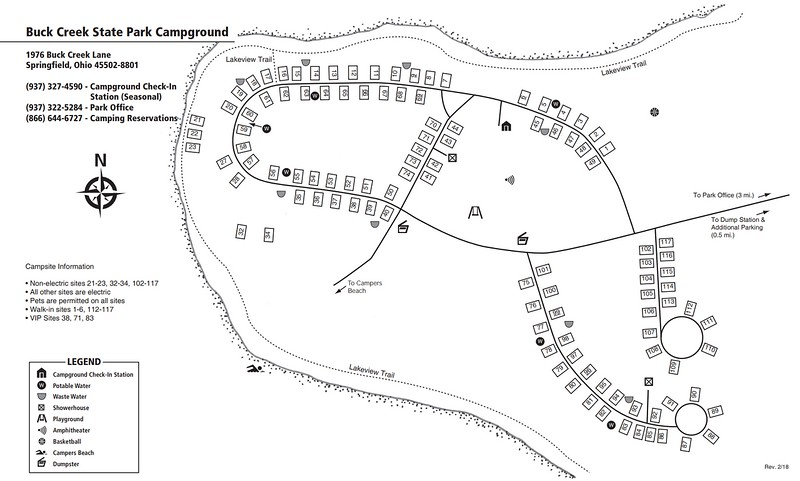 Buck Creek State Park (Campground Map)