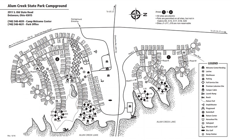 Alum Creek State Park (Campground Map)