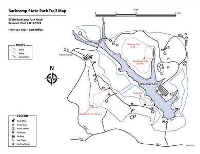Barkcamp State Park (Trail Map)