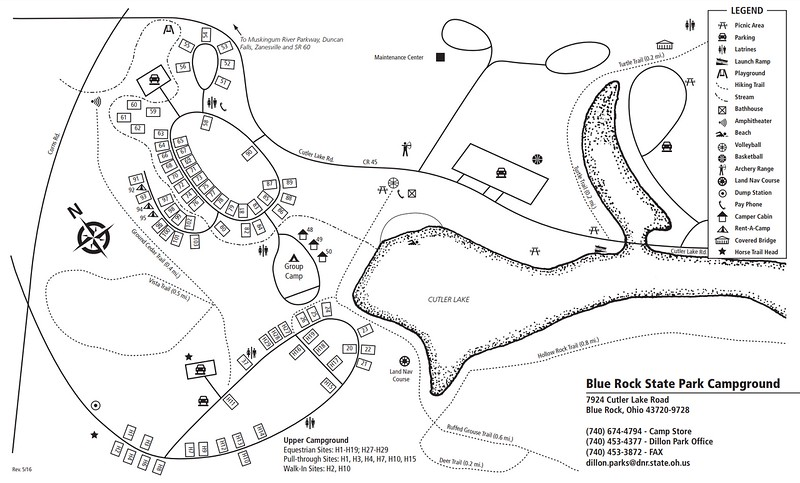 Blue Rock State Park (Campground Map)