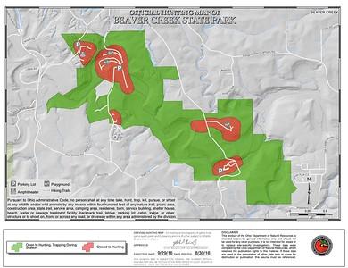 Beaver Creek State Park (Hunting Map - North)