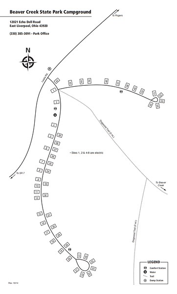 Beaver Creek State Park (Campground Map)