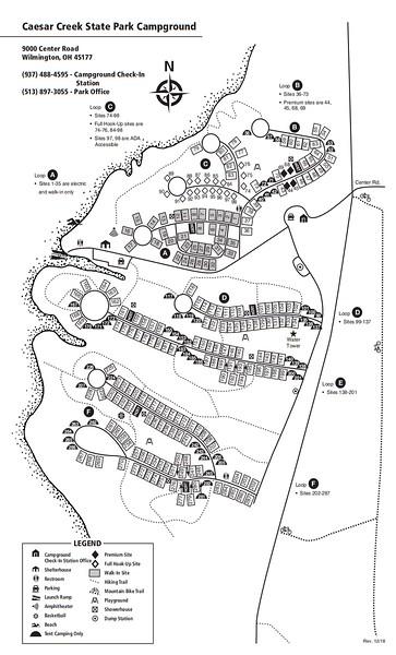 Caesar Creek State Park (Campground Map)