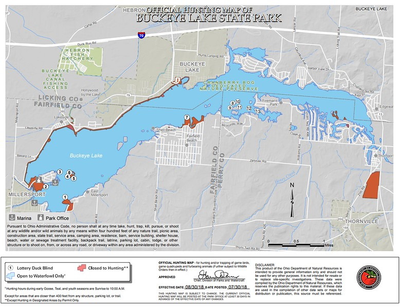 Buckeye Lake State Park (Hunting Map)