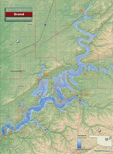 Cherokee Area at Grand Lake State Park (Grand Lake O' the Cherokees Map)