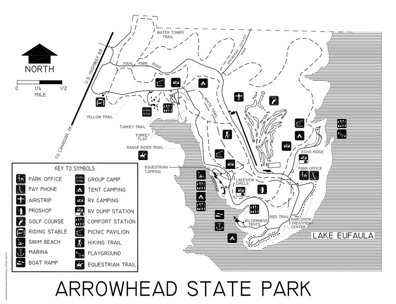 Arrowhead Area at Lake Eufaula State Park