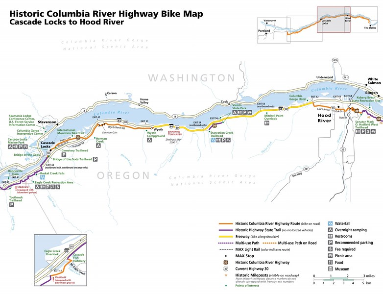 Historic Columbia River Highway State Trail (Cascade Locks to Hood River)