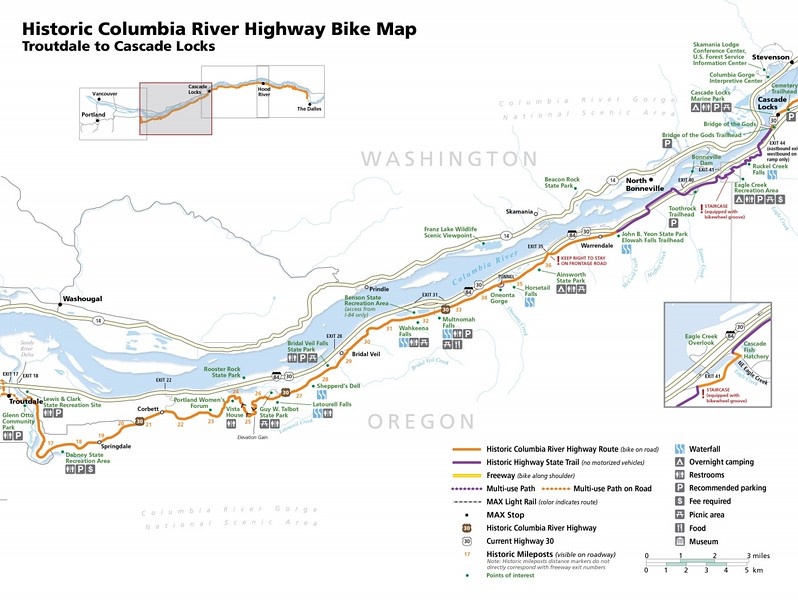 Historic Columbia River Highway State Trail (Troutdale to Cascade Lake)