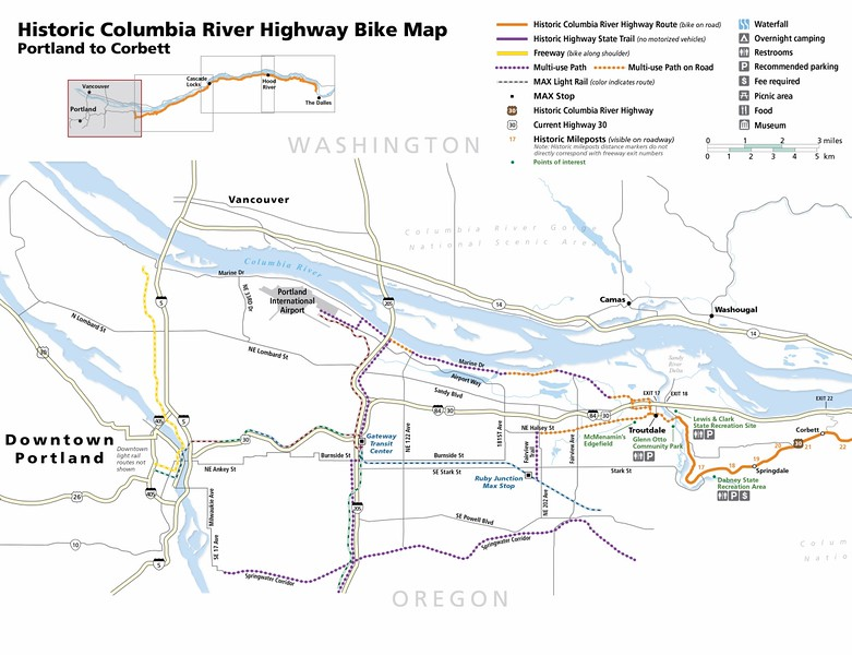 Historic Columbia River Highway State Trail (Portland to Corbett)