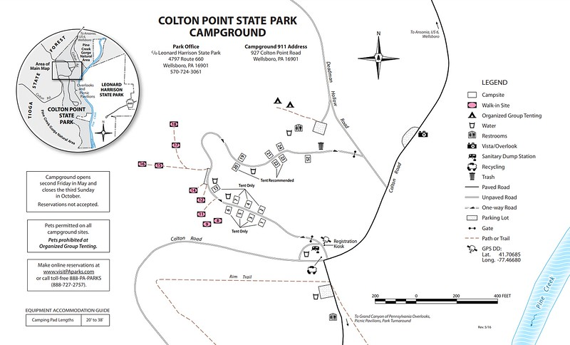 Colton Point State Park (Campground Map)