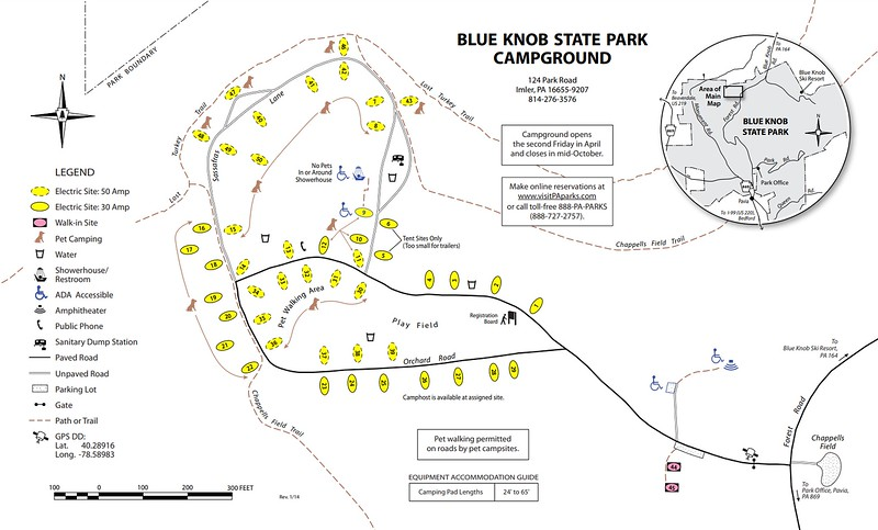 Blue Knob State Park (Campground Map)