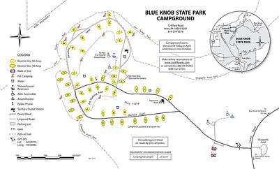 Blue Knob State Park (Campground Map)