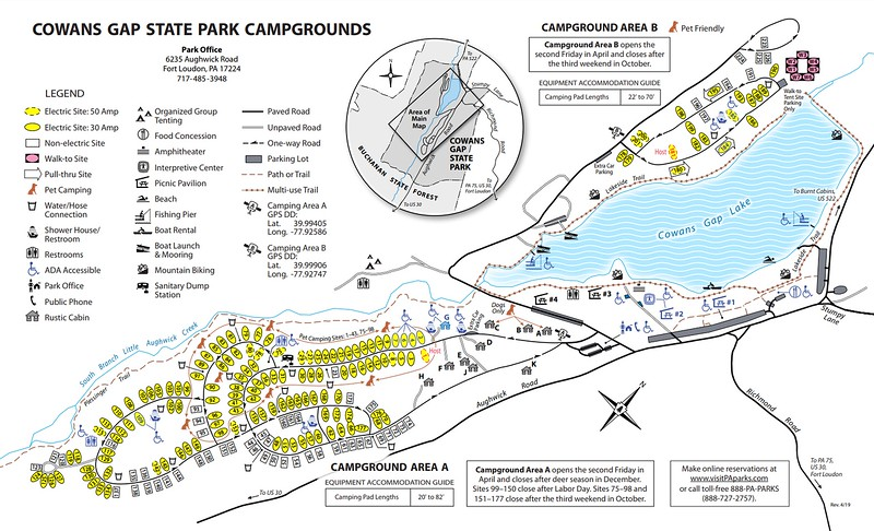 Cowans Gap State Park (Campground Map)