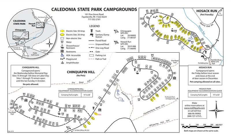 Caledonia State Park (Chinquapin Hill & Hosack Run Campgrounds)