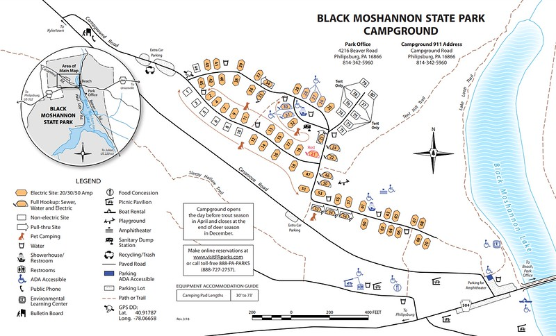 Black Moshannon State Park (Campground Map)