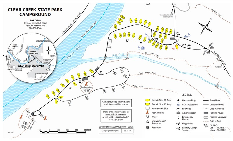 Clear Creek State Park (Campground Map)