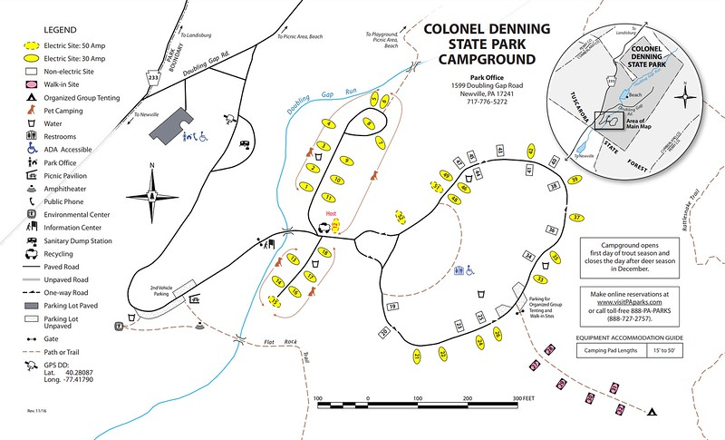Colonel Denning State Park (Campground Map)