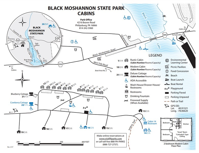 Black Moshannon State Park (Cabin Map)