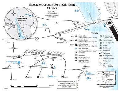 Black Moshannon State Park (Cabin Map)