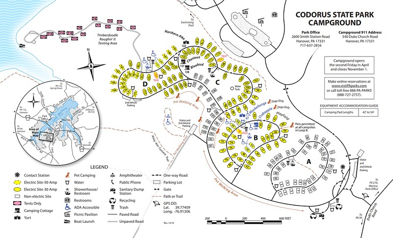 Codorus State Park (Campground Map)