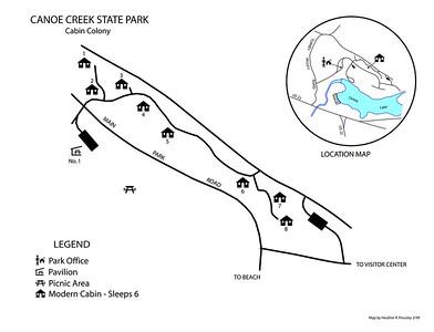 Canoe Creek State Park (Cabin Map)