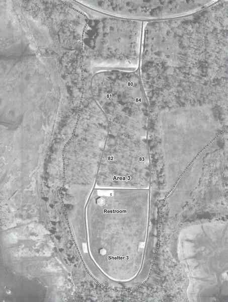 Colt State Park - Area 3 Map