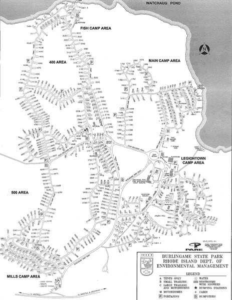 Burlingame State Park - Campground Map