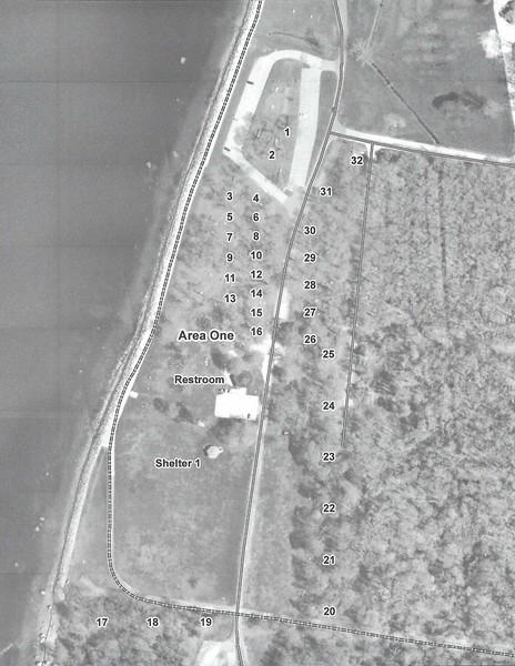 Colt State Park - Area 1 Map