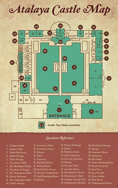 Huntington Beach State Park (Atalaya Castle Map)