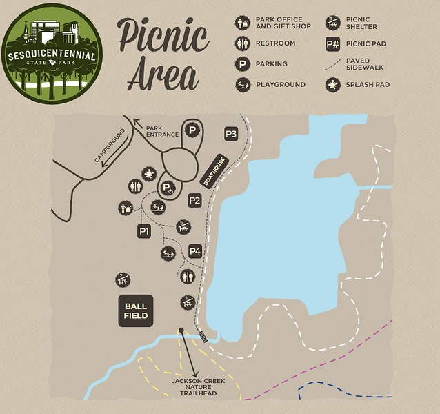 Sesquicentennial State Park (Picnic Area Map)
