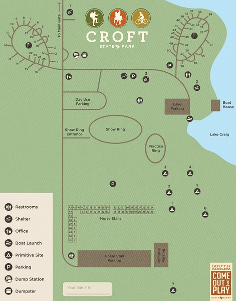 Croft State Park (Campground Map)
