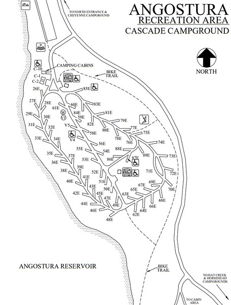 Angostura Recreation Area (Cascade Campground)
