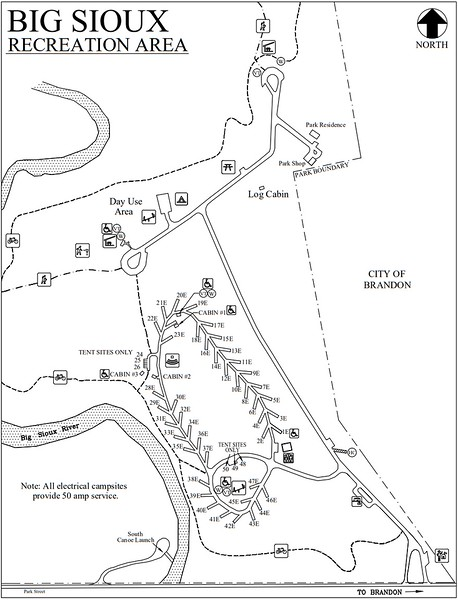 Big Sioux Recreation Area (Campground Map)