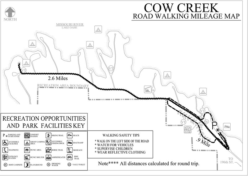 Cow Creek Recreation Area (Road Walking Map)
