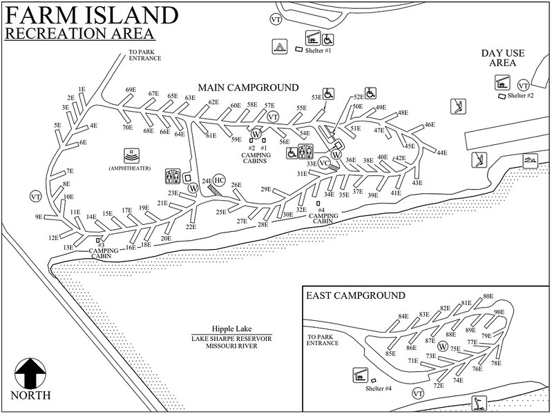 Farm Island Recreation Area (Campground Map)