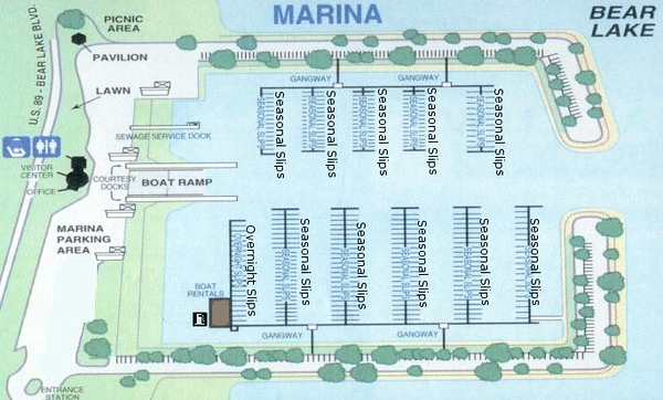 Bear Lake State Park (Marina Map)
